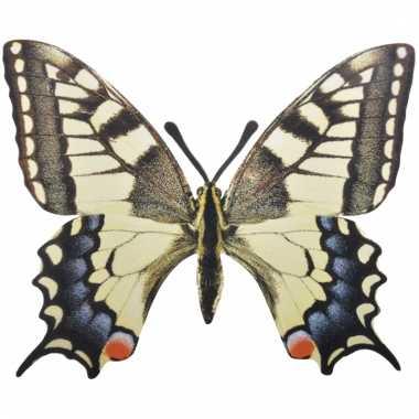 Deco koninginnenpage vlinder metaal 25 cm