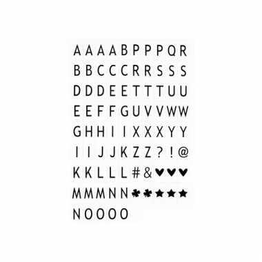 Deco lichtbox alfabet voor in lamp