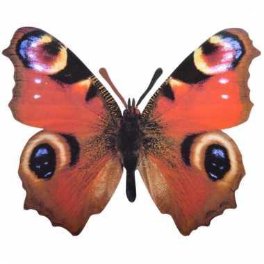 Deco pauwenoog vlinder metaal 25 cm