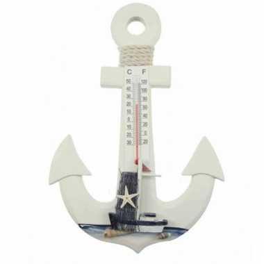 Decoratie anker thermometer 25 cm