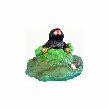 Decoratie beeldje plastic mol 20 cm