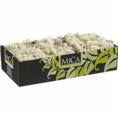 Decoratie/hobby mos naturel/wit 500 gram