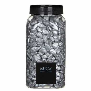 Decoratie/hobby stenen zilver 1 kg