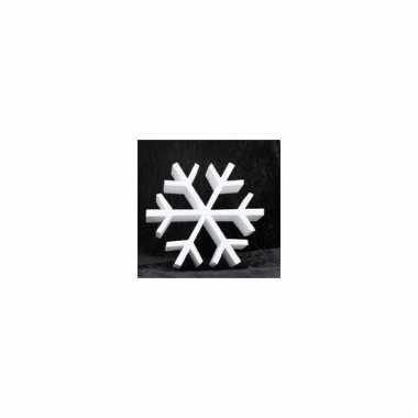 Decoratie ijskristal van piepschuim 20 cm