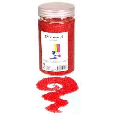 Decoratie korrelzand rood 500 gram