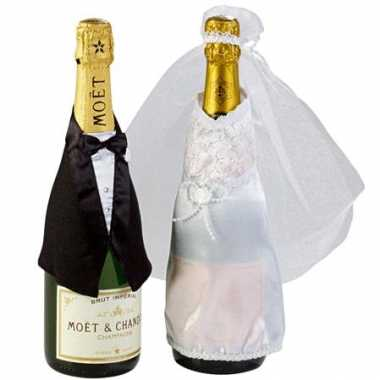 Decoratie man & vrouw champagne