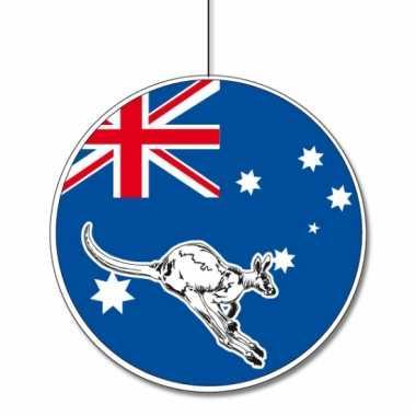 Decoratie materiaal australie karton 28 cm