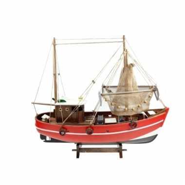 Decoratie model vissersboot 45 cm