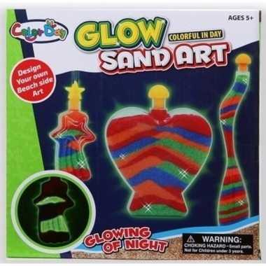 Decoratie speelzand set voor jongens glow in the dark