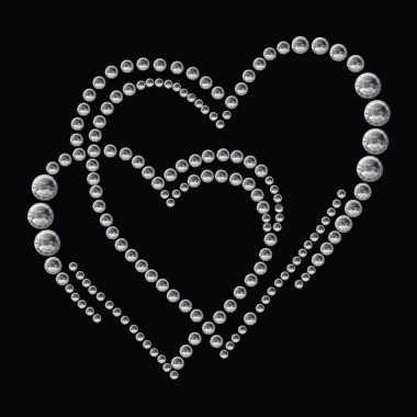 Decoratie sticker strass harten
