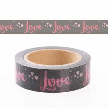 Decoratie tape met liefde