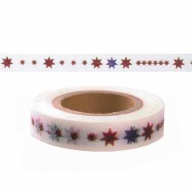 Decoratie tape met sterretjes