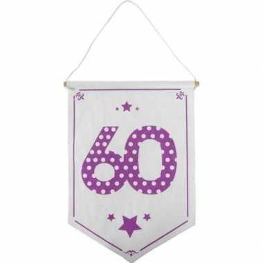 Decoratie vlaggetje/vaantje 60 jaar