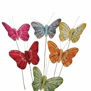 Decoratie vlindertjes 12 stuks