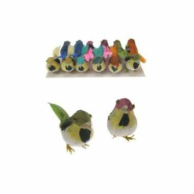 Decoratie vogeltje 1 stuk