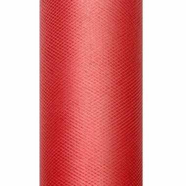 Decoratiestof tule rood 15 cm breed