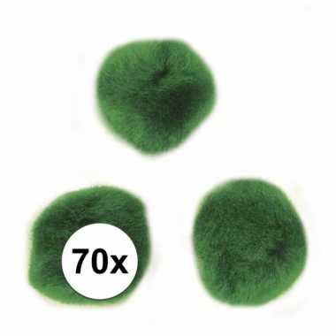 Decoratieve pompons 7 mm groen