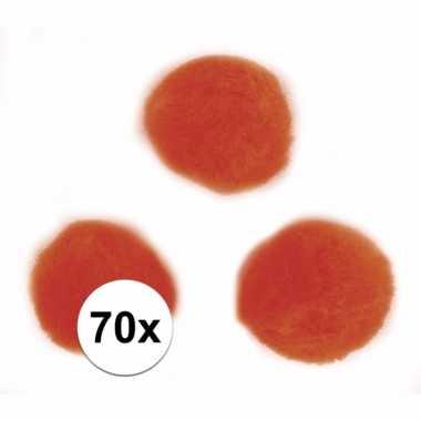 Decoratieve pompons 7 mm oranje