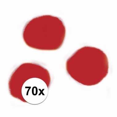 Decoratieve pompons 7 mm rood