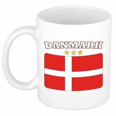 Deense vlag koffiebeker 300 ml