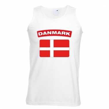 Deense vlag singlet wit heren