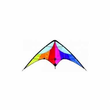 Delta stunt vlieger rainbow 130 x 60 cm