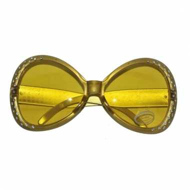 Diamanten feestbrillen goud