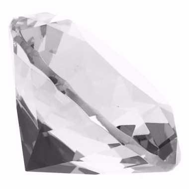 Diamanten van kristal 8 cm