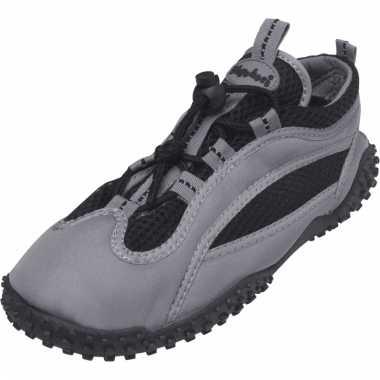 Dichte waterschoenen grijs met zwart