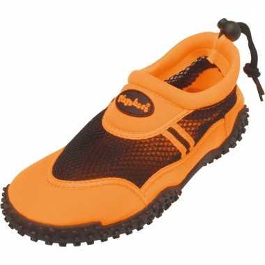 Dichte waterschoenen oranje voor dames