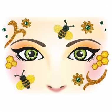 Dieren gezicht sticker bijen