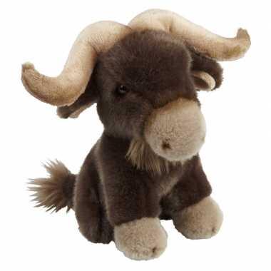 Dieren knuffels bizon bruin 18 cm