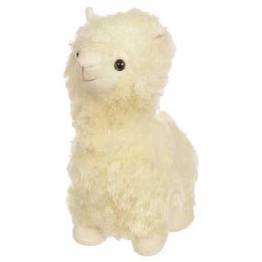 Dieren knuffels deurstopper alpaca/lama wit 30cm