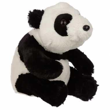Dieren knuffels deurstopper panda beer zwart/wit 25 cm