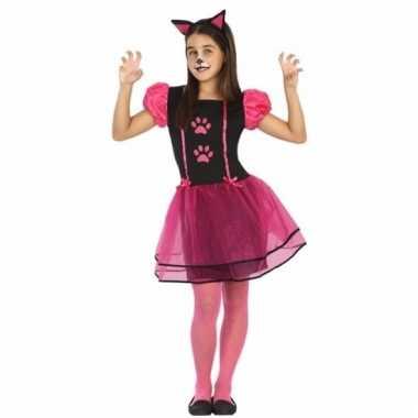 Dieren kostuum poes/kat/kitten voor meisjes