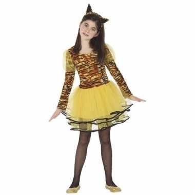 Dieren kostuum tijger cara voor meisjes