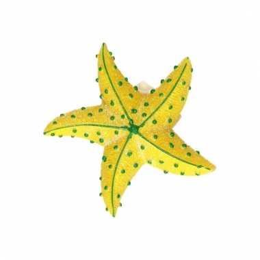 Dieren magneet zeester geel 7.5 cm
