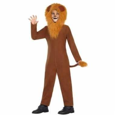 Dieren onesie leeuw leo voor kinderen
