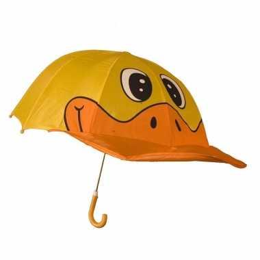 Dieren paraplu eend voor jongens