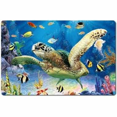 Dieren placemat zeeschildpadden 3d