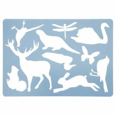 Dieren tekenen sjabloon