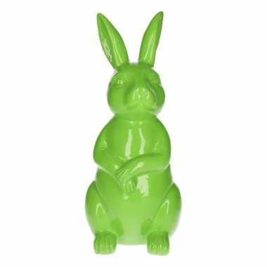 Dierenbeeld haas / konijn groen 30 cm