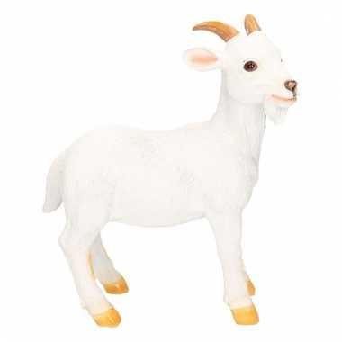Dierenbeeld wit geiten bokje 26 cm
