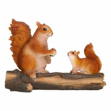 Dierenbeeldje eekhoorns 24 x 10 x 18 cm