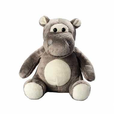Dierenknuffel nijlpaard 12.5 cm