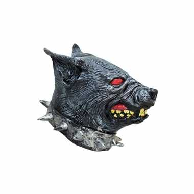 Dierenmasker hellhond van latex