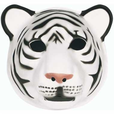 Dierenmasker tijger wit voor kids