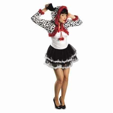 Dierenpak dalmatier dames verkleedkleding