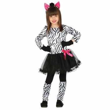 Dierenpak zebra verkleedjurkje voor meisjes