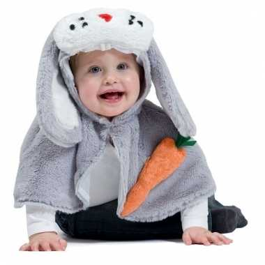 Dierenpakje grijs konijntje voor kinderen